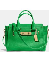 Coach Swagger In Nubuck Pebble Leather - Lyst