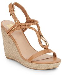 DV by Dolce Vita | Taylor Braided Faux Leather & Jute Wedge Sandals | Lyst