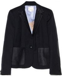 Band Of Outsiders Schoolboy Blazer with Leather - Lyst