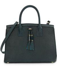 Ivanka Trump Tassel Embossed Leather Tote - Lyst