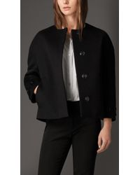 Burberry Wool Cashmere Dropped Shoulder Jacket - Lyst