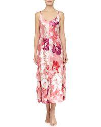 Oscar de la Renta - Caliente Floral Print Ruffle Long Gown - Lyst