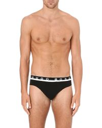 Hugo Boss Branded Stretch-Cotton Briefs - For Men - Lyst