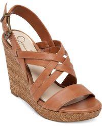 Jessica Simpson Julita Platform Wedge Sandals - Lyst