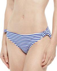 Zinke - Gidget Striped Ruched-Back Swim Bottom - Lyst