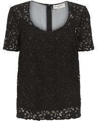 Burberry London Floral Lace Top - Lyst