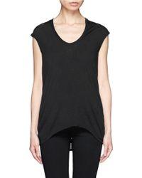 Helmut Lang Drape Back Burnout Jersey T-Shirt - Lyst