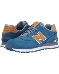 New Balance | blue 574 - Lux | Lyst