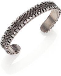 Dannijo Lane Crystal Chain Cuff Bracelet - Lyst