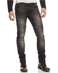 Rogue State - Black Quilted Moto Jeans - Lyst