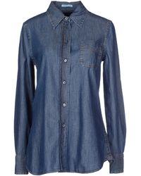 Prada Denim Shirt - Lyst