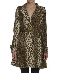 Members Only - Faux Fur Cheetah Trench - Lyst