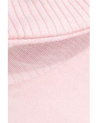 Karla Špetic Aqua Silk-satin And Organza Top - Pink