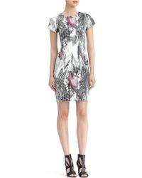 Rachel Roy Marble Print Sheath Dress - Lyst