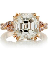 Gioia - Cut-cornered Rectangular Diamond Ring - Lyst