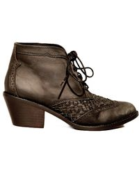 Pixie Market Woven Lace Up Boots - Lyst