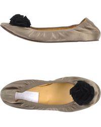 Lanvin Ballet Flats khaki - Lyst