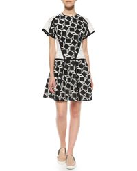 Jonathan Simkhai Geo-Print T-Shirt Dress - Lyst