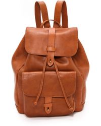Madewell Leather Rucksack  English Saddle - Lyst
