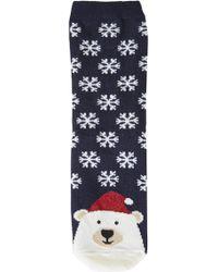 Topshop Polar Bear Toe Ankle Socks - Lyst