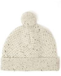 Oliver Spencer - Cream Donegal Bobble Hat - Lyst