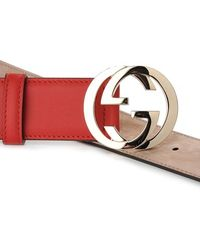 Gucci Red Leather Belt - Lyst