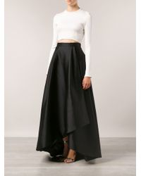 Alberta Ferretti Duchesse High Low Skirt - Lyst
