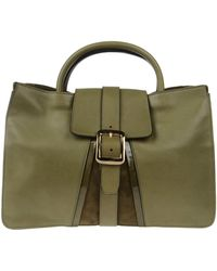 Vionnet Large Leather Bag green - Lyst