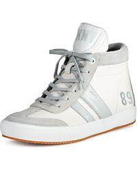 DKNY White Kooper Sneaker - Lyst
