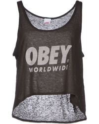 Obey Top - Lyst