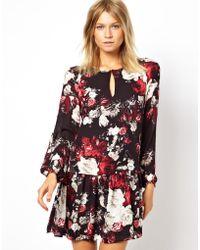 Mango Floral Print Swing Dress - Lyst