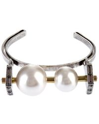 Lanvin - Faux-Pearl And Crystal Cuff - Lyst