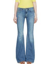 Acne Studios Blue Vintage Flared Mello Jeans