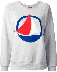 Petit Bateau - Logo Print Sweatshirt - Lyst