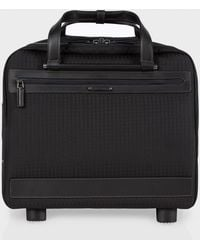 Paul Smith Grey 'Jacquard Rabbit' Small Trolley Suitcase - Lyst