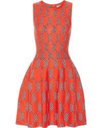 Issa Orange Jacquard-knit Dress - Lyst