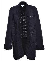 Yakshi Malhotra - Black Oversized Hand-knit Chunky Lace Cardigan - Lyst