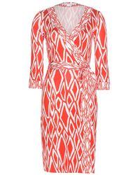 Diane von Furstenberg Julian Printed Silk Wrap Dress - Lyst