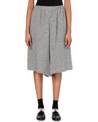 Comme des Garçons High-Rise Linen-Blend Trousers - Lyst