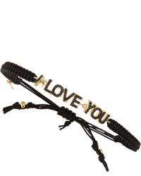Tai - Cz I Love You Station Bracelet - Lyst