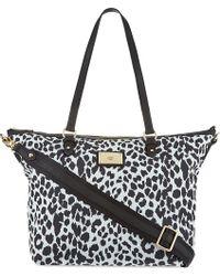Juicy Couture Malibu Tote Blkwht Leopard - Lyst
