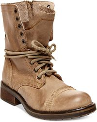 Steve Madden Troopa 2.0 Combat Boots beige - Lyst