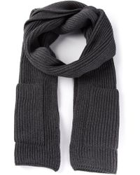 Joseph Ribbed Knit Scarf - Lyst