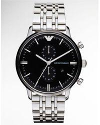Emporio Armani Mens Stainless Steel 2-eye Watch - Lyst