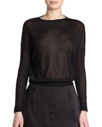Acne Studios Mira Fluid Sheer Sweater - Lyst