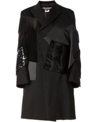 Junya Watanabe Stylised Patchwork Overcoat - Lyst