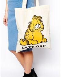 Lazy Oaf | Garfield Tote Bag | Lyst