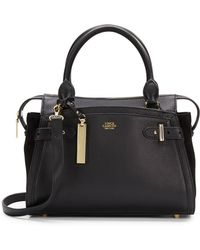 Vince Camuto Leather  Suede Satchel - Lyst