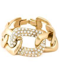 Yves Saint Laurent Vintage Crystal Embellished Bracelet - Lyst