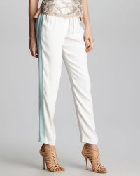 Rebecca Taylor Sidestripe Track Pants - Lyst